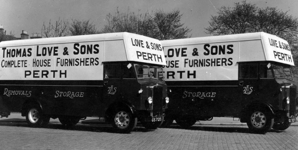 Old Photograph Thomas Love and Sons Furniture Removal Vans Perth Perthshire.jpg