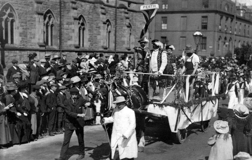 Old Photograph Of A Float In A Parade In Perth Perthshire.jpg