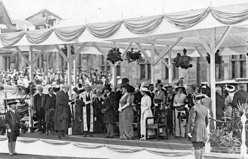 Old Photograph Opening Of Royal Infirmary Perth Perthshire Scotland.JPG