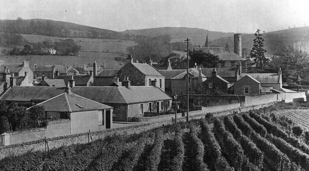 Old Photograph Cottages Abernethy Perthshire Scotland.JPG